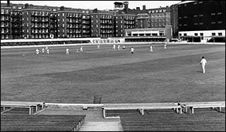 Photo of cricket match at Cardiff Arms Park in 1960