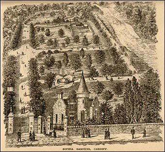 Victorian drawing of Sophia Gardens