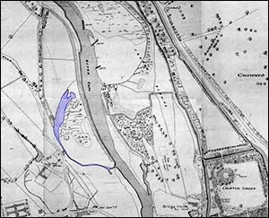 Extract from 1851 map of Cardiff