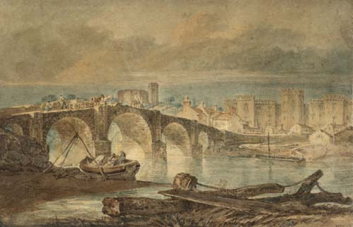 Turner painting of Cardiff bridge