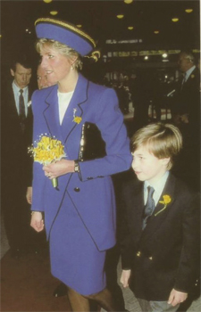 Princess Di and William