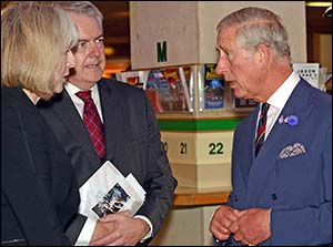 Photo of Prince Charles, Theresa May and Carwyn Jones