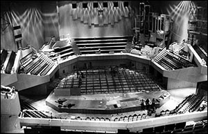 Photo of St David's Hall auditorium under construction