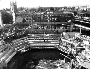 St David's Hall, Cardiff, under construction