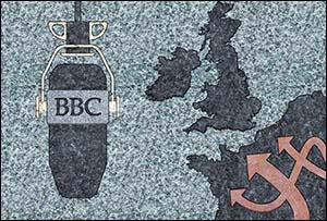 Image of granite postcard for wartime BBC studio