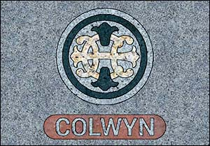 Image of granite postcard for Colwyn Bay station