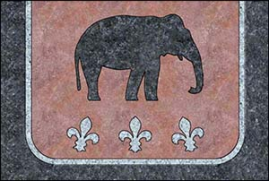 Image of granite postcard for mechanical elephant rides