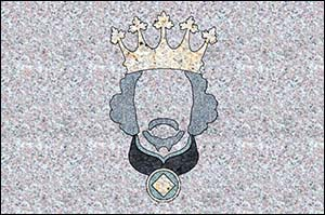 Image of King Richard II granite postcard