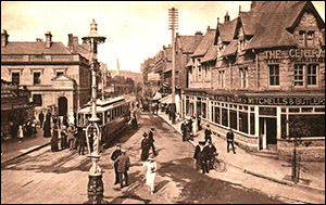 Photo of Colwyn Bay street with tram