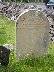 Grave of James Lee on Great Orme