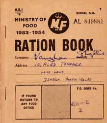 photo of ration book