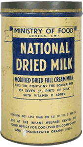 photo of dried milk tin