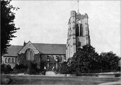 Old photo of St Paul's church in Colwyn Bay