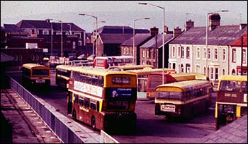 Caerphilly bus station in 1987