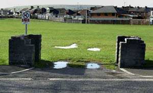 photo of stumps of eisteddfod arch