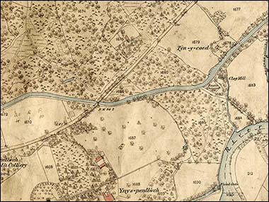 Extract from 1876 Clydach map