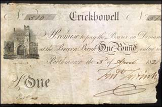 Photo of Porthmawr banknote of 1821