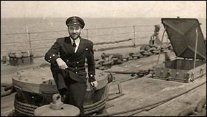 Photo of Royden Jandrell on ship