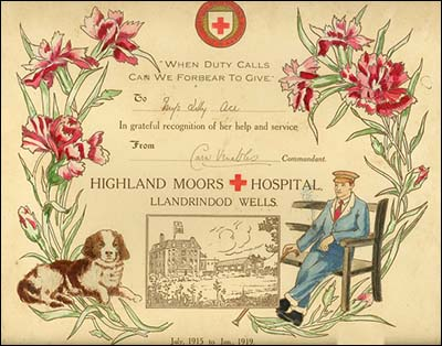 Highland Moors Hospital certificate