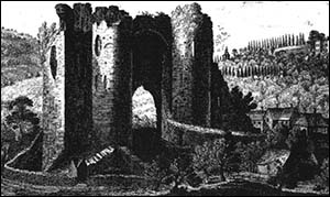 Old drawing of Neath Castle