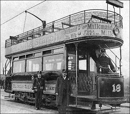 Photo of Newport tramcar c.1905