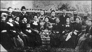 Photo of Bethany Chapel sewing class 1880