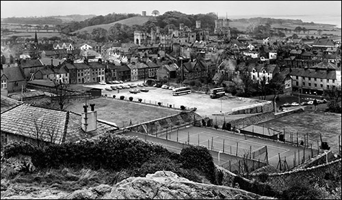 Photo of view from Twthill in 1968