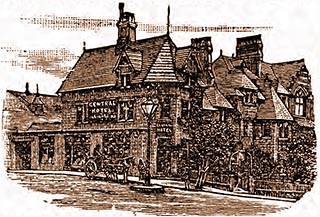 Drawing of Central Hotel in 1890s