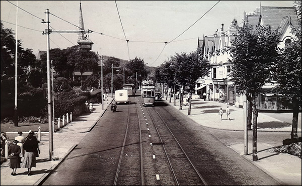 Photo of electric tramway at Coed Pella