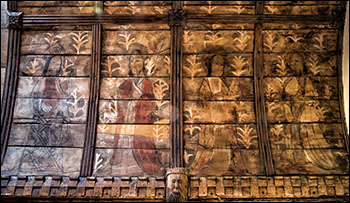 Photo of roof paintings in Gyffin church