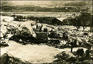 Photo of Dolgarrog flood aftermath