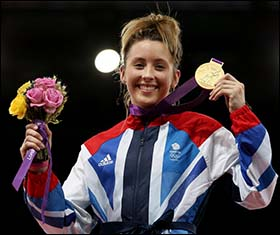 Photo of Jade Jones with 2012 gold medal