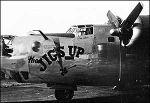 Photo of B-24 Liberator known as The Jigs Up