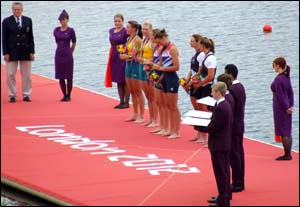 Photo of Olympics ceremony on pontoon