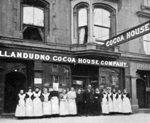 Photo of staff outside cocoa house