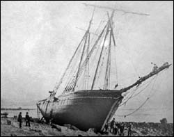 Photo of Lady Agnes aground