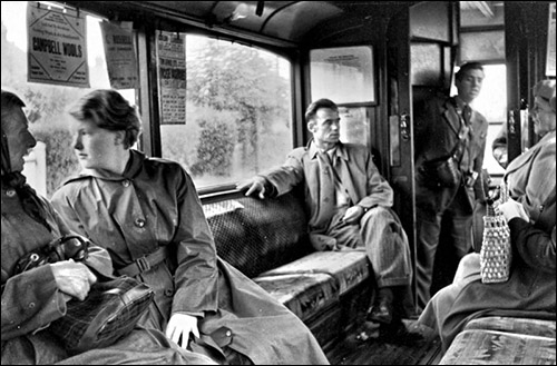 Photo of tram interior c.1955