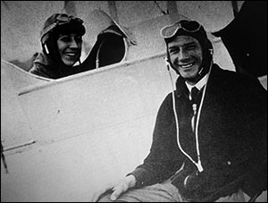 Photo of Val Baker with Amy Johnson