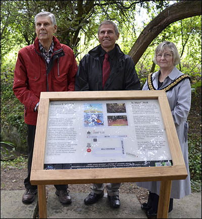 Photo of Llanrhos well board unveiling