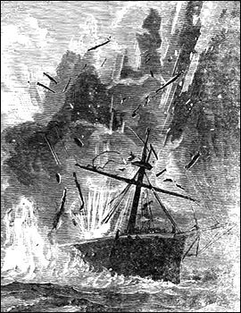 Drawing of Costpatrick on fire