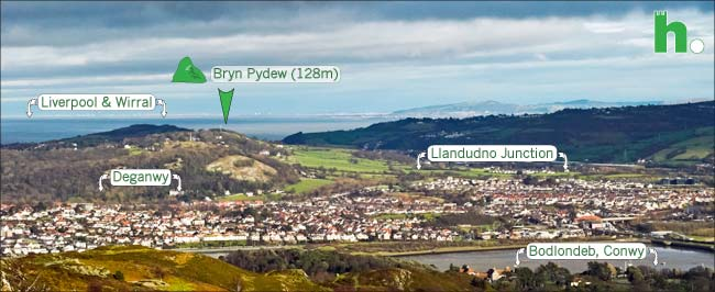 View east from conwy mountain