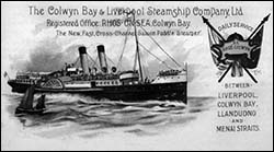 Poster of Colwyn steamship company