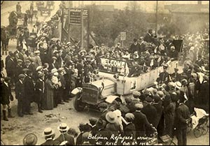 Photo of Belgian refugees arrival in Rhyl