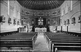 Photo of original Roman Catholic church interior