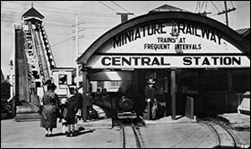 Photo of original Rhyl Central Station