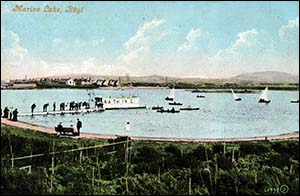 Old postcard of Marine Lake