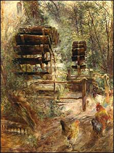 Painting of Marford Mill by W Huggins