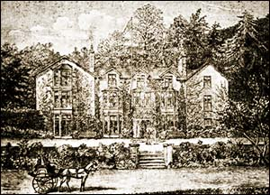 Drawing of Belle Vue Hotel in 1890s