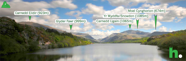 Photo showing view from Llyn Padarn