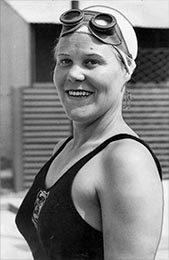 Photo of swimmer Jenny James
